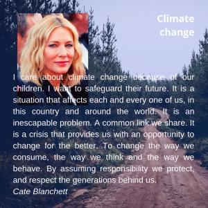 Eco warrior Cate Blanchett