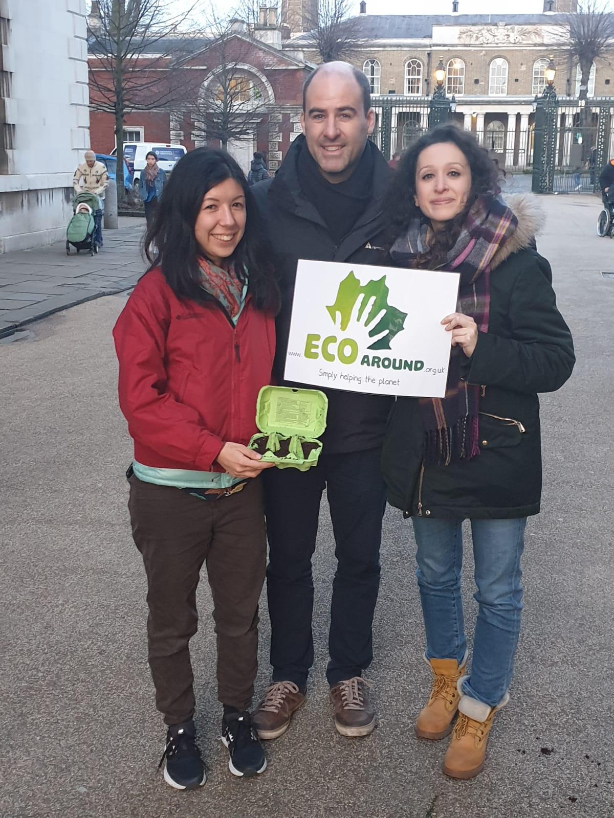 Eco Around team, Ludo, Jon and Ellie