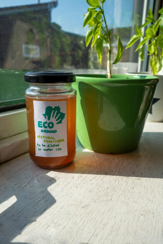 Natural homemade fertiliser from Jon's wormery
