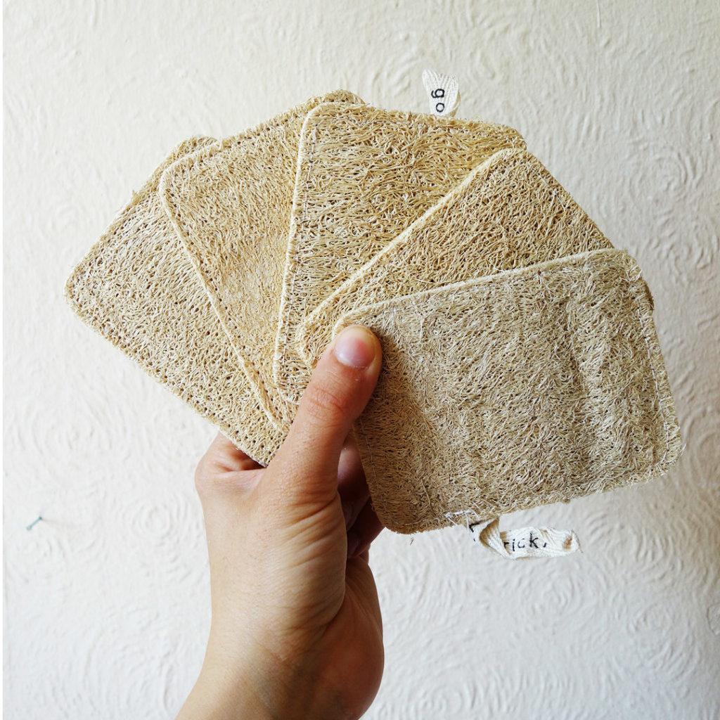 Eco household items - loofah dishwashing sponge